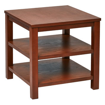 "Office Star Merge 20"" Square End Table Cherry Finish [MRG09S-CHY]"