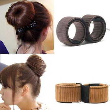 ESBONRZ 1PC Synthetic Wig Donuts Bud Head Band Ball French Twist Magic DIY Tool Bun Maker French Dish Made Hair Band Hair Accessories