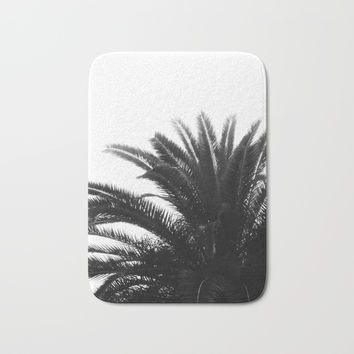 Palm tree Bath Mat by ARTbyJWP