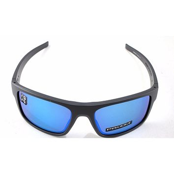 New Oakley Sunglasses Drop Point Matte Grey Sapphire Prizm Polarized oo9367-0660