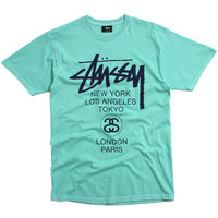 World Tour Pigment Dyed T-Shirt Turquoise