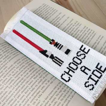 Cross stitch bookmark - Star Wars, embroidered bookmark, gift for readers, book lover