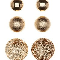 OVERSIZE CIRCLE STUD EARRINGS - 3 PACK