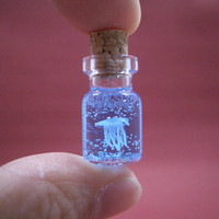 A  jellyfish in a tiny bottle S