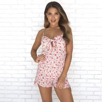 On A Side Note Floral Set in Pink