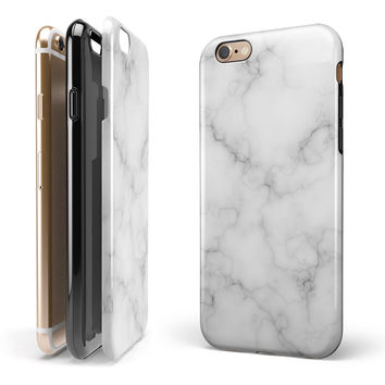 Slate Marble Surface V54 iPhone 6/6s or 6/6s Plus 2-Piece Hybrid INK-Fuzed Case
