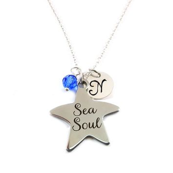 Sea Soul - Starfish Personalized Sterling Silver Necklace