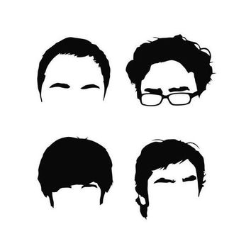Funny Big Bang Hair Silhouettes Vinyl Decal Sticker Car Truck Window Wall Bumper