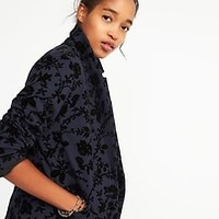Classic Textured-Print Blazer for Women | Old Navy
