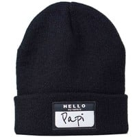 Hello My Name Is Papi Beanie **Almost Sold Out**
