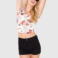 Hello Floral #23 Crop Top