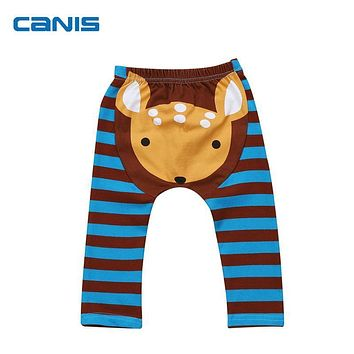 Toddler Newborn Baby Boys Girls Animal Pattern Bottoms Pants Harem Pants Trousers