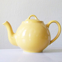 Lipton Teapot in mustard yellow by MidwestFinds on Etsy