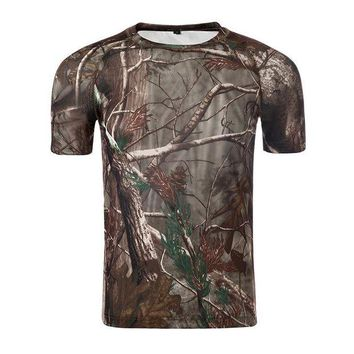 DCCKFS2 ESDTY  summer men's quick-drying tactical camouflage t-shirt American outdoor sports waterproof anti-sweat shirt hunting