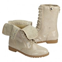 Sequin Foldover Boots