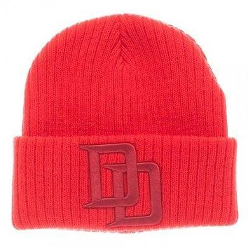 MARVEL DAREDEVIL RED CUFF BEANIE Knit Cap Hat  (807932)