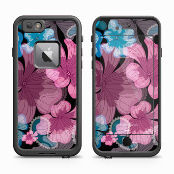 Purple and Blue Abstract Lilly Flower Petal Skin for the Apple iPhone LifeProof Fre Case
