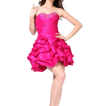 7b4875b7b101 Short Homecoming Dresses Strapless Sweetheart Taffeta Corset Back Prom Plus  Size Cocktail