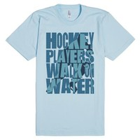 Hockey Players Walk On Water-Unisex Light Blue T-Shirt