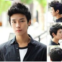 Handsome boys short wig Korean men's male hair Cosplay wigs PO258