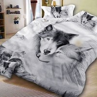 Animal Couple Bedding Sets Duvet and Pillow Shams