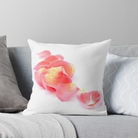 'Pink petals' Throw Pillow by VanGalt