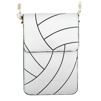 Volleyball Cell Phone Crossbody Pouch with Strap