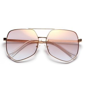 Oversized Polygon Sunglasses