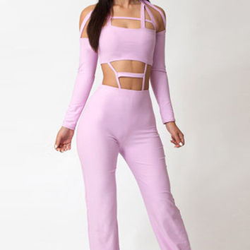 Futuristic Cut out Bodice Jumpsuit