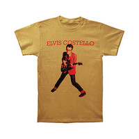 Elvis Costello Men's  My Aim Is True T-shirt Golden Tan