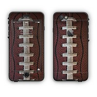 The Football Laced Apple iPhone 6 Plus LifeProof Nuud Case Skin Set
