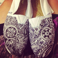 CUSTOM sharpie TOMS women's abstract design brand by hannahgabr