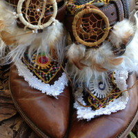 Southwestern Native American Gypsy Boho Cowgirl Boots size 10, Sante fe Sally Cowboy boots