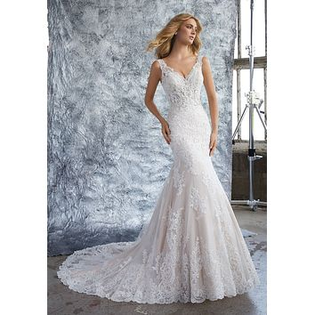 Morilee 8212 Kristina Elegant Lace Fit and Flare Wedding Dress