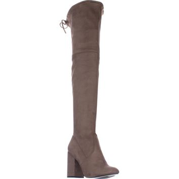 Steve Madden Norri Over The Knee Boots, Taupe, 6.5 US