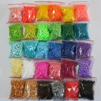 2.6mm mini hama beads 20 bags 500pcs/bag 100% quality guarantee perler beads fuse beads