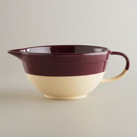 Fig Dipped Glaze Mixing Bowl