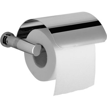 Ribbet Wall Toilet Paper Holder Bath Tissue Roll Paper Dispenser W/ Lid, Brass
