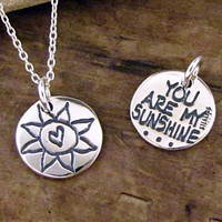 You Are My Sunshine Necklace - Sun Charm - You Are My Sunshine Jewelry