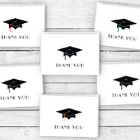 Graduation Caps Thank You Cards Collection
