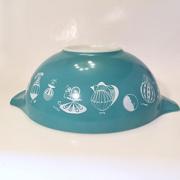 Pyrex Hot Air Balloon 444 Mixing Bowl, Pyrex Cinderella Bowl 4 quart Mixing Bowl