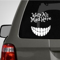 Alice in Wonderland Cheshire Cat Car Decal |The Decal Guru