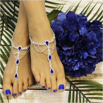 SOMETHING SAPPHIRE barefoot sandals - royal blue