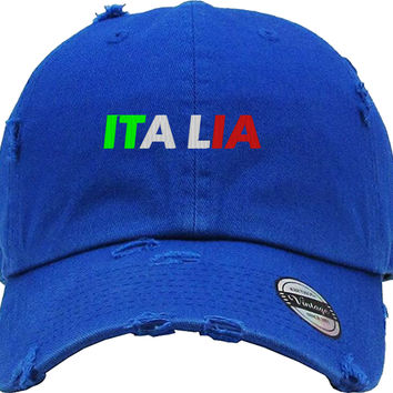 ITALIA Distressed Baseball Hat