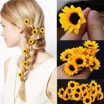 5Pcs  Boho Flower Daisy Hair Cuff Clip Headband Hair Pin Accessories Slide [8383725319]
