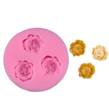 Rose Flower Cupcake Baking Mould Jelly Pud DIY Cake Decorating Tools Silicone Sugar Fondant Cake Mould Clay Moulds