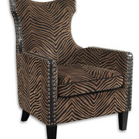 Uttermost Kimoni Wing Back Armchair - 23003
