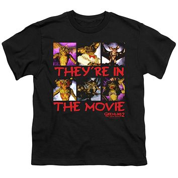 Gremlins 2 Kids T-Shirt They're in the Movie Black Tee