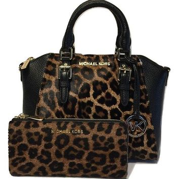 ONETOW MICHAEL Michael Kors Ciara MD Messenger Handbag bundled with Michael Kors Bedford Zip Wallet