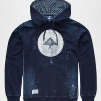 Lrg Hustle Crest Mens Hoodie Indigo  In Sizes